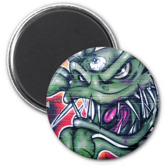 Taurian - Evil Plant Spray paint Art Graffiti 2 Inch Round Magnet