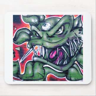 Taurian - Evil Plant Spray paint Art Graffiti Mouse Pad