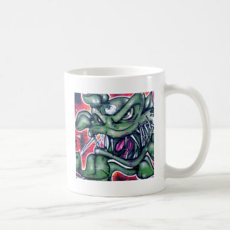 Taurian - Evil Plant Spray paint Art Graffiti Classic White Coffee Mug