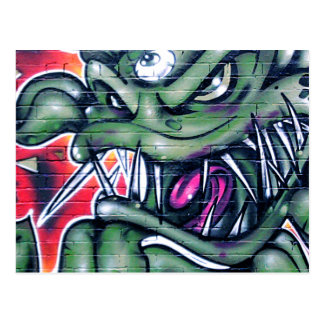 Taurian - Evil Plant Spray paint Art Graffiti Postcard