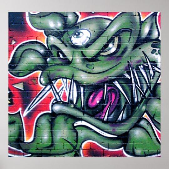 Taurian - Spray paint graffiti art plant Poster