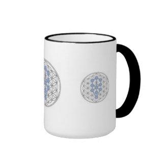 Taurian - Tree of Life - Flower of Life Ringer Coffee Mug