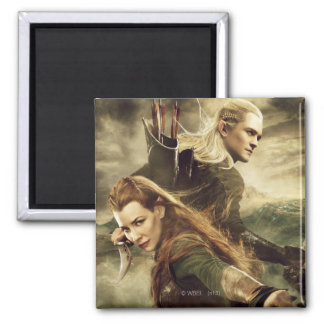 TAURIEL™ And LEGOLAS GREENLEAF™ Movie Poster 3 2 Inch Square Magnet