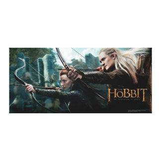 TAURIEL™ and LEGOLAS GREENLEAF™ Movie Poster Canvas Print