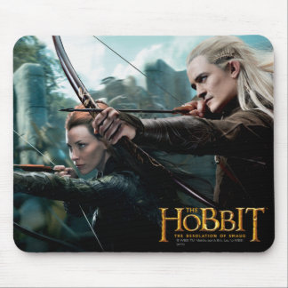 TAURIEL™ and LEGOLAS GREENLEAF™ Movie Poster Mouse Pad