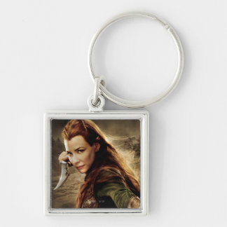 TAURIEL™ Character Poster 1 Silver-Colored Square Keychain
