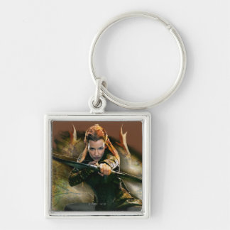 TAURIEL™ Drawing Bow Silver-Colored Square Keychain