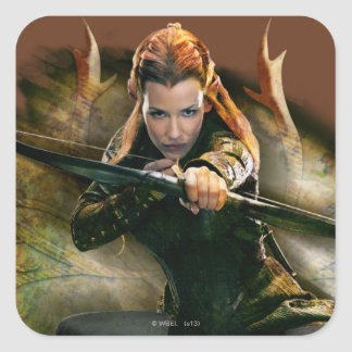 TAURIEL™ Drawing Bow Square Stickers