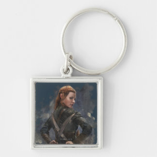 TAURIEL™ Sketch Silver-Colored Square Keychain