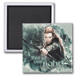 TAURIEL™ - This Is Our Fight 2 Inch Square Magnet