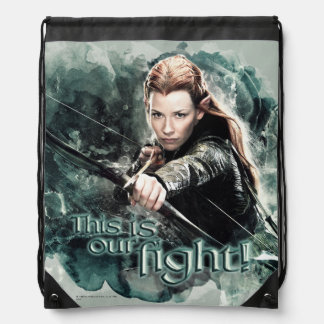 TAURIEL™ - This Is Our Fight Drawstring Bags