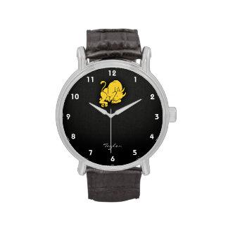 Tauro ambarino amarillo relojes de mano