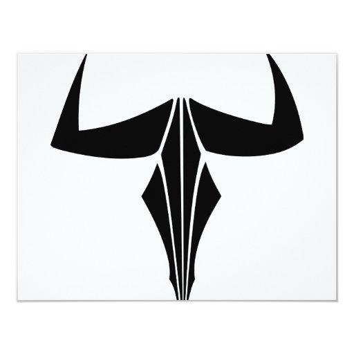 """Tauro Bull Invitación 4.25"""" X 5.5"""""""
