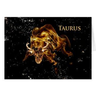 Tauro - Bull-Tarjeta Tarjeta De Felicitación