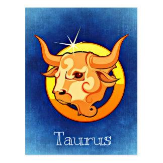 Tauro de la muestra de la astrología tarjetas postales