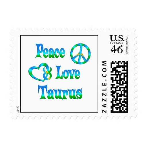 Tauro del amor de la paz franqueo
