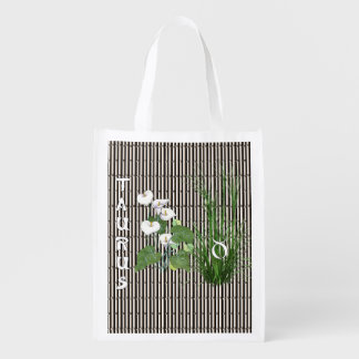 Tauro del bambú y del lirio bolsa reutilizable