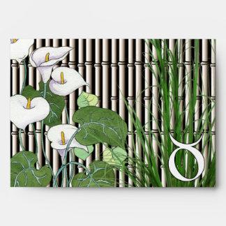 Tauro del bambú y del lirio sobres