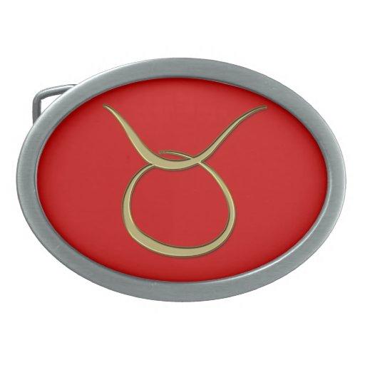 tauro del oro hebilla de cinturón oval