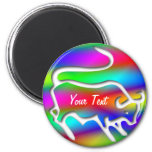 Tauro el color del arco iris del zodiaco de Bull Iman Para Frigorífico