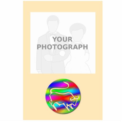 Tauro el marco de la foto de color del arco iris d escultura fotográfica