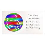 Tauro la perla del color del arco iris del zodiaco tarjeta de visita