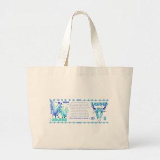 Tauro llevado gallo 1993 del agua del zodiaco de bolsa tela grande