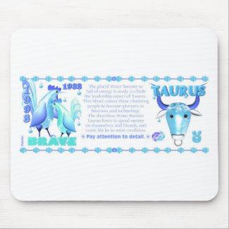Tauro llevado gallo 1993 del agua del zodiaco de V Tapetes De Ratones