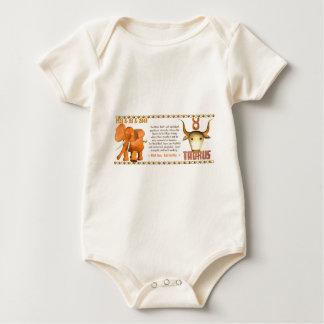 Tauro llevado toro de madera 1985 del zodiaco de mameluco de bebé