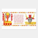 Tauro llevado zodiaco 1977 de la serpiente del fue rectangular altavoz