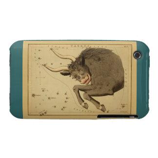 Tauro - muestra del vintage de la imagen del carcasa para iPhone 3