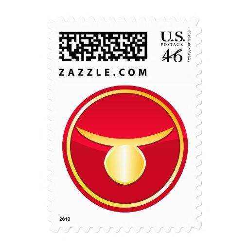 Tauro - muestras del zodiaco sello