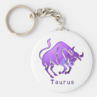 taurus-6 basic round button keychain