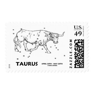 Taurus (April 20 - May 20) Constellation Stamps