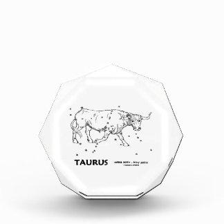 Taurus (April 20th - May 20th) Acrylic Award