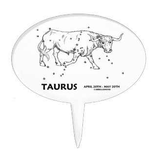 Taurus (April 20th - May 20th) Cake Picks