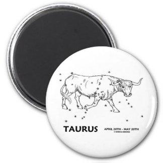 Taurus (April 20th - May 20th) Fridge Magnet