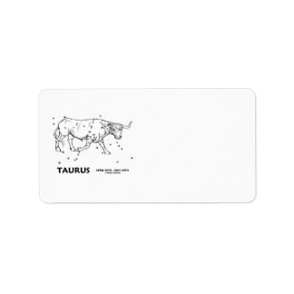 Taurus (April 20th - May 20th) Custom Address Labels