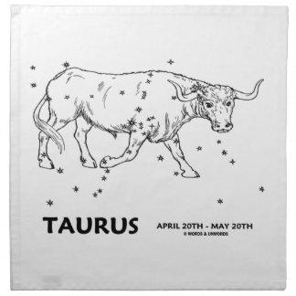 Taurus (April 20th - May 20th) Printed Napkins