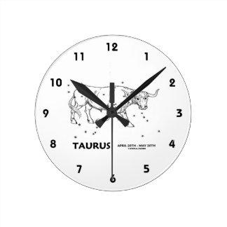 Taurus (April 20th - May 20th) Round Wall Clock