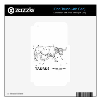 Taurus (April 20th - May 20th) Skins For iPod Touch 4G
