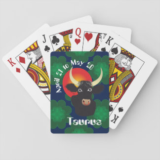 Taurus April 21 to May 20 playing cards Spielkarten
