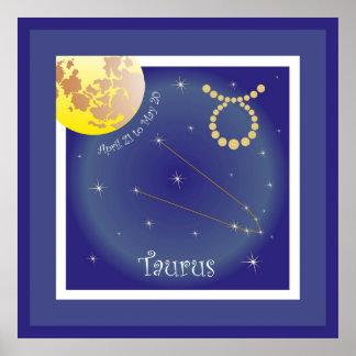 Taurus April 21 tons May 20 maggio Poster