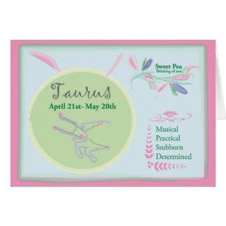 Taurus April Birthday Card