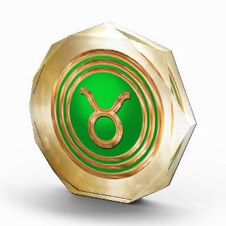 Taurus Astrological Sign Acrylic Award