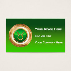 Taurus Astrological Sign Business Card
