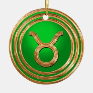 Taurus Astrological Sign Ceramic Ornament