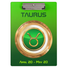 Taurus Astrological Sign Clipboard