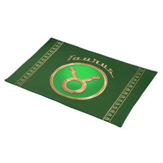 Taurus Astrological Sign Cloth Placemat