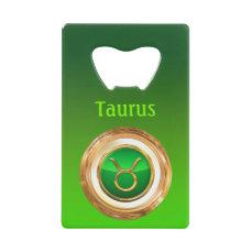 Taurus Astrological Sign Credit Card Bottle Opener